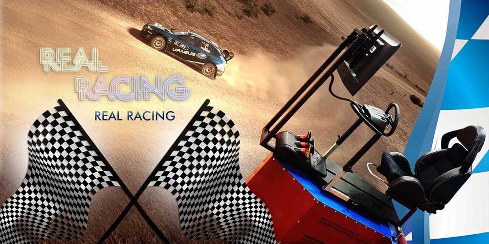 شبیه ساز حرفه ای مسابقات اتومبیلرانی ساریسا با سیستم متحرک سه محوره